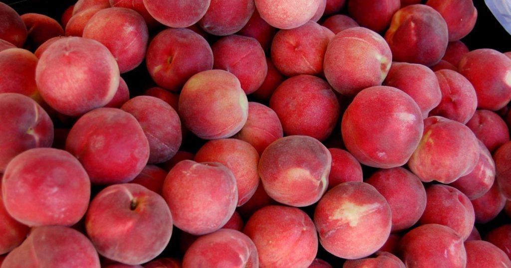 Nashville farmers market peaches
